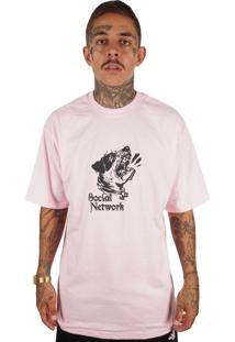Camiseta Wanted Ind Social Network Rosa