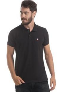 Camisa Polo Zaiden Store Piquet Zaiden Basic V1 - Masculino-Preto