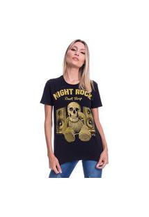 Camiseta Jazz Brasil Night Rock Preta