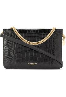 Givenchy Bolsa Transversal Com Efeito De Pele De Crocodilo - Preto