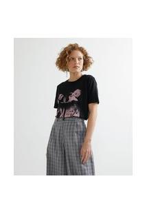 Blusa Alongada Em Algodão Com Estampa Do Grupo Black Pink