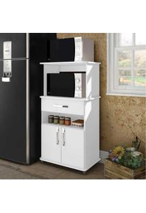 Armário De Cozinha Para Forno 2 Portas 1 Gaveta Mm Asm 151 Branco - Móvel Bento