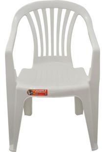 Kit 4 Cadeira Poltrona Boa Vista Com Apoio Branca Antares