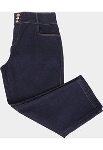 Calça Jeans Xtra Charmy Plus Size Cropped Feminina - Feminino