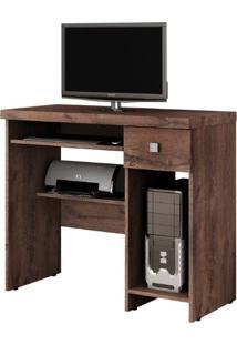 Escrivaninha/Mesa Para Computador System Valdemóveis Castanho