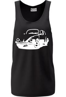 Camiseta Regata Criativa Urbana Cavada Carro Clássico Antigo Fusca Preta