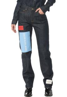 Calça Jeans Pocktes High Rise Straight Ckj 030 High Rise Straigh - Marinho - 38