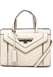 Bolsa Estruturada Ellus Matelassê Off-White