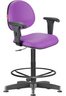 Cadeira Caixa Alta Lilás Com Braços