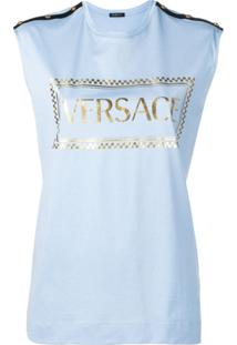Versace Regata Com Estampa De Logo - Azul