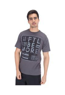 Camiseta Fatal Estampada 20249 - Masculina - Cinza Escuro
