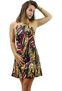 Vestido Evasê Morena Rosa Estampa Exclusiva Plus Size Feminino - Feminino-Estampado
