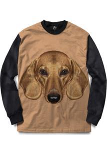Blusa Bsc Dachshund Dog Full Print - Masculino