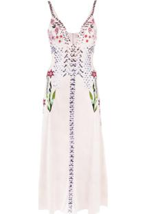 Temperley London Finale Embroidered Slip Dress - Rosa