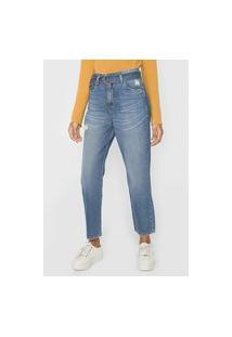 Calça Jeans Cantão Reta Estonada Azul