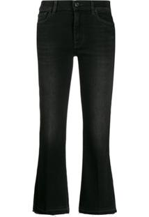 7 For All Mankind Calça Jeans Flare Cropped - Preto
