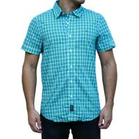 Camisa Kevingston Stripe Ii Manga Curta Verde Algodao 07ce0a3caaf