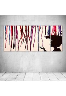 Quadro Decorativo - Art Umbrella - Composto De 5 Quadros - Multicolorido - Dafiti