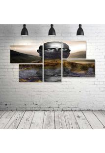 Quadro Decorativo - Silence - Composto De 5 Quadros - Multicolorido - Dafiti