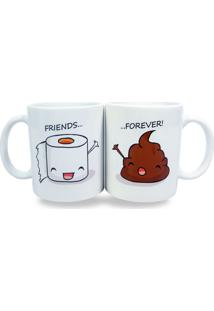 Par De Canecas Friends Forever Geek10 Branco
