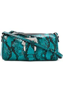 Paula Cademartori Snakeskin Print Shoulder Bag - Azul