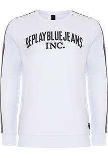 Blusa Masculina Blue Jeans Band - Branco