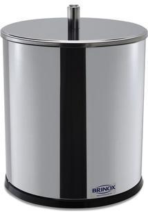Lixeira Com Tampa- Inox- 20Xø15Cm- 3,2L- Bribrinox