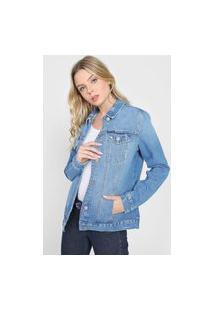 Jaqueta Jeans Calvin Klein Jeans Destroyed Azul