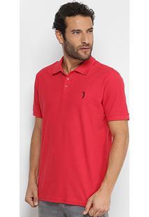 Camisa Polo Aleatory Lisa Gola Jacquard Masculina - Masculino