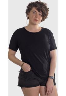 Camiseta Hurano Básica Feminina Preta