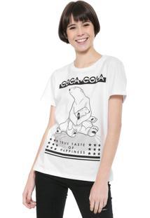Camiseta Coca-Cola Jeans Urso Branca