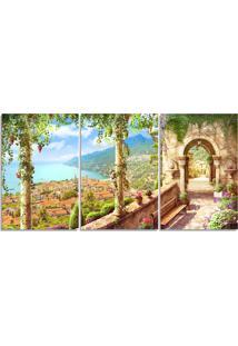 Quadro Decorativo Cidade Paisagem Pintura Sala Quarto Casa - Multicolorido - Dafiti