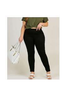 Calça Plus Size Legging Feminina Bengaline