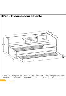 Bicama C Prateleira Multimóveis 0740.010 Branco Se