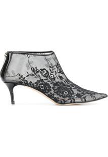 Christopher Kane Ankle Boot De Couro - Preto