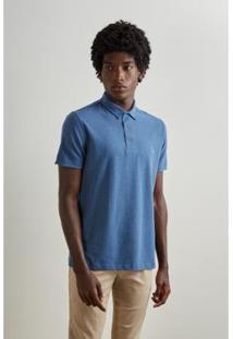 Camisa Polo Reserva Pala Interna Masculino - Masculino-Azul Escuro