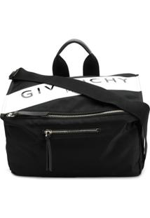 Givenchy Bolsa Carteiro Com Logo - Preto