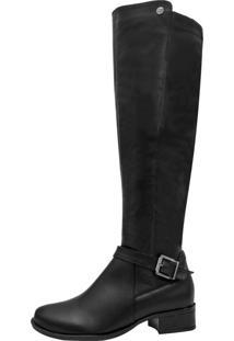 Bota Montaria Corazzi Leather Deluxe Couro Stretch Preta