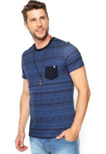 Camiseta Malwee Estampada Azul