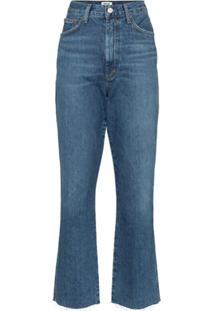 Agolde Calça Jeans Flare Com Cintura Alta - Azul