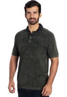 Camisa Tricot Polo Y Le Tisserand Verde Stone