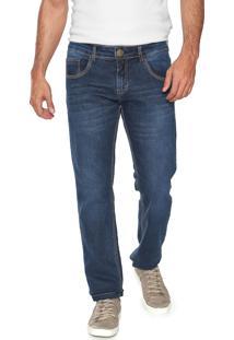 Calça Jeans Yachtsman Slim Mustache Azul