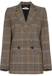 Givenchy Double-Breasted Check Jacket - Marrom