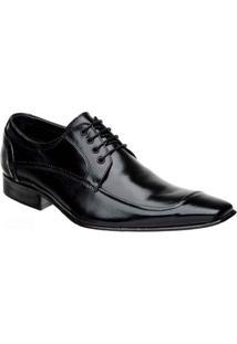 Sapato Social Clássico Com Cadarço Bigioni - Masculino-Preto