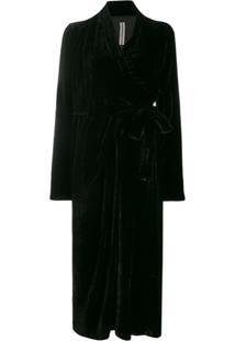 Rick Owens Wrap Midi Dress - Preto