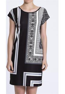 Vestido Recco Crepe Elastane/Viscose Str Rosa - Tricae