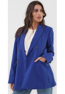 Blazer Forum Alfaiataria Azul