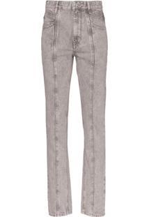 Isabel Marant Étoile Calça Jeans Cintura Alta Holly - Cinza