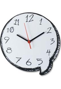 Relógio De Parede Balão De Gibi Geek10 - Branco
