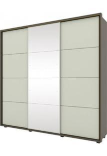 Guarda Roupa Henn Colina 03 Portas Deslizantes C/ 01 Espelho Damasco Hp/Areia Hp